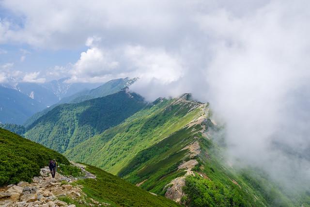 大天井岳への登攀