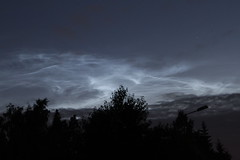Noctilucent clouds, Porvoo, Finland