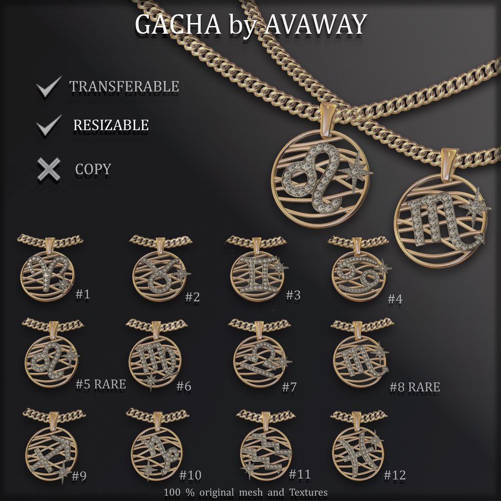GACHA ZODIAC SIGNS Necklacklaces at COSMOPOLITAN