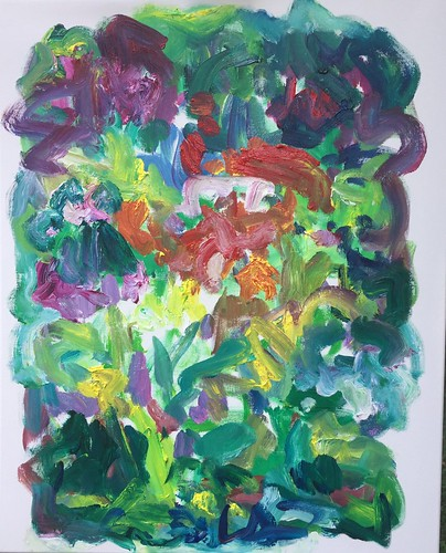 Susan Marx: Garden Alive, 30x24, acrylic on canvas