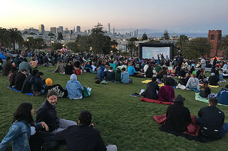 Film Night in the Park - Dolores Park Austin Powers commercials