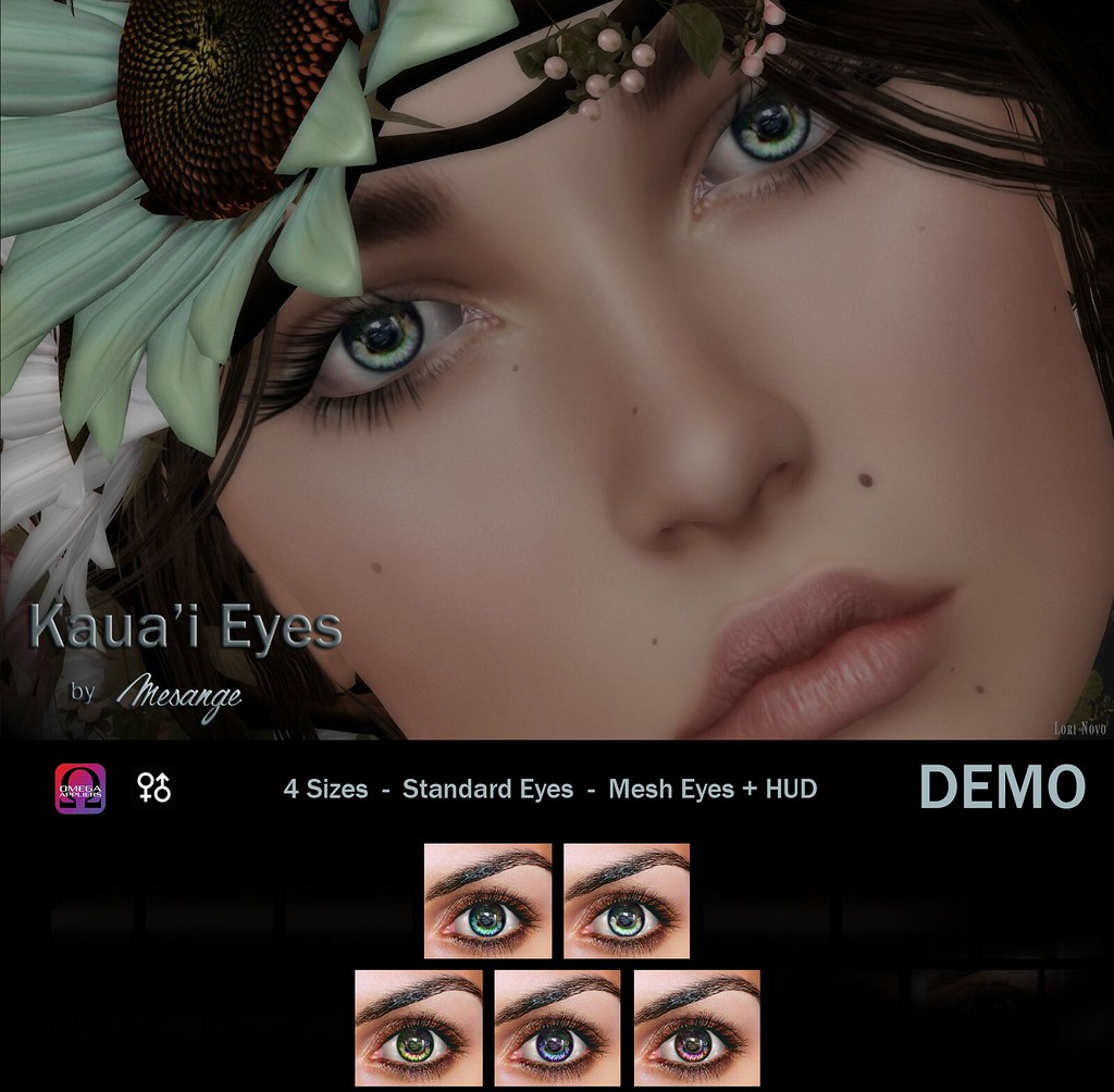 MESANGE - Kaua'i Eyes for THE HIDDEN CHAPTER - SecondLifeHub.com