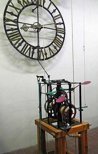 The clockwork gears in Ghent's Belltower, Belgium