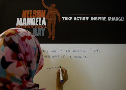 Nelson Mandela International Day.