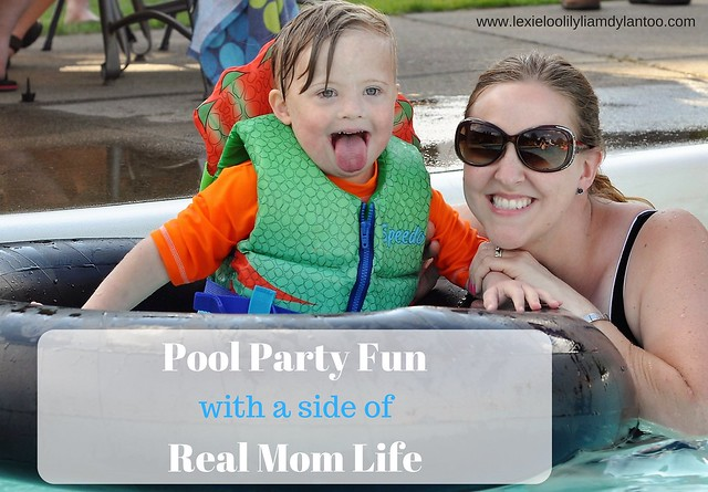 Pool Party Fun - What it's really like to take four kids to a pool party!