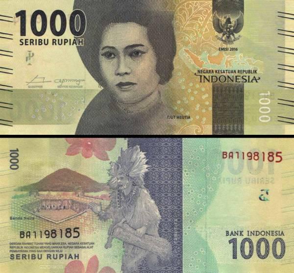 1000 Rupií Indonézia 2016, P154a
