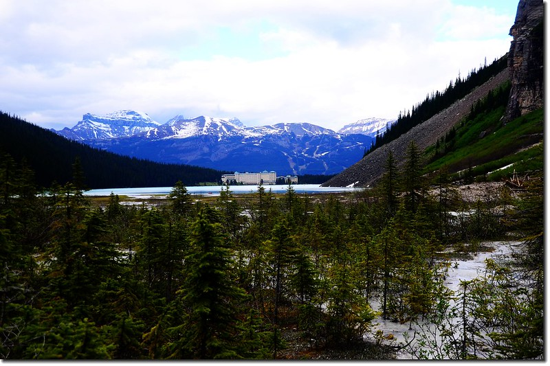 Looking toward Northeast from the end of Lake Louise