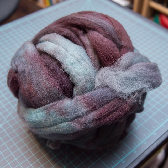 Aegean Superwash Hand Dyed Longwool Roving