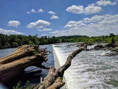The Washington Aqueduct at Great Falls NP. Water Cloud - Sky Nature Landscape Great Falls National Park at Great Falls Park