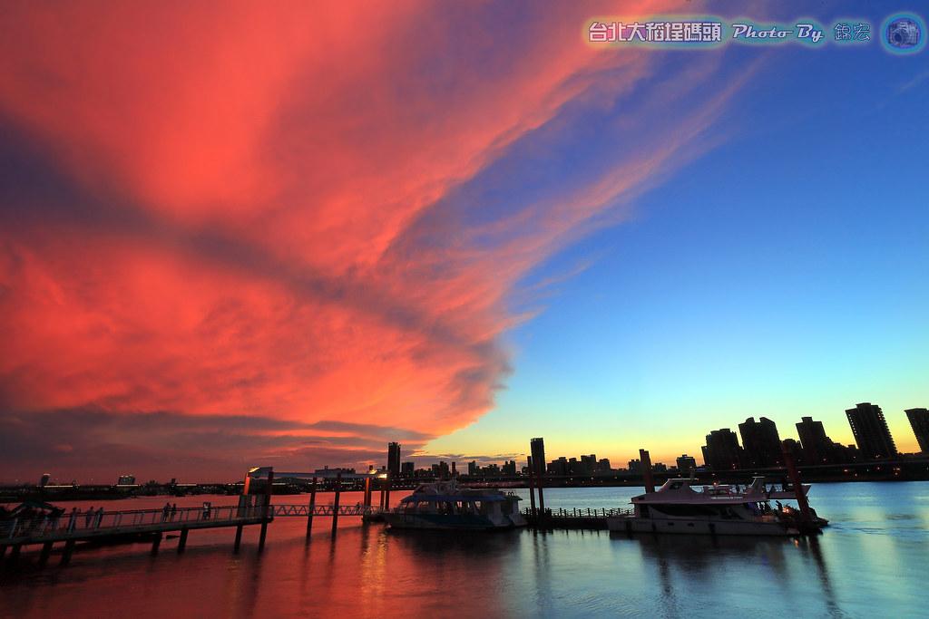 台北大稻埕碼頭夕陽