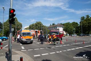 Verkehrsunfall Biebricher Allee/2. Ring 18.07.17