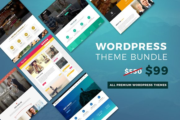 CreativeMarket WordPress Theme Bundle: Whole Store