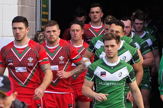 IRELAND & WELSH UNIVERSITIES RUGBY LEAGUE WORLD CUP TEAMS TAKE THE FIELD
