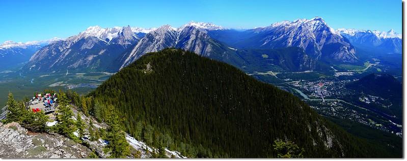 Panoramic View at meteorological station on Sanson Peak facing North 2