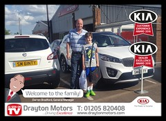 Mr McGinty and his son collecting their New Sorento from Nathan! They are a new customer to Drayton Motors and we welcome them to the family!