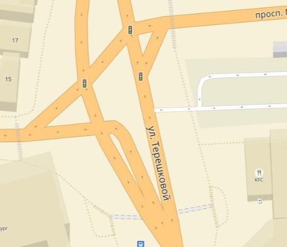 Перекресток на картах