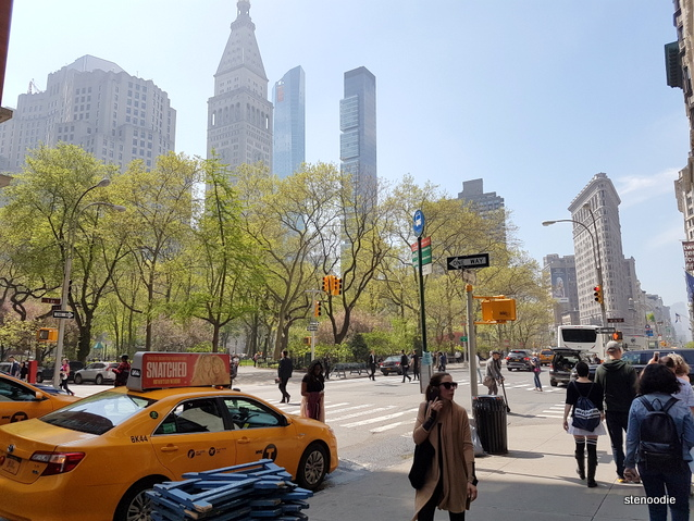 New York streets in the spring