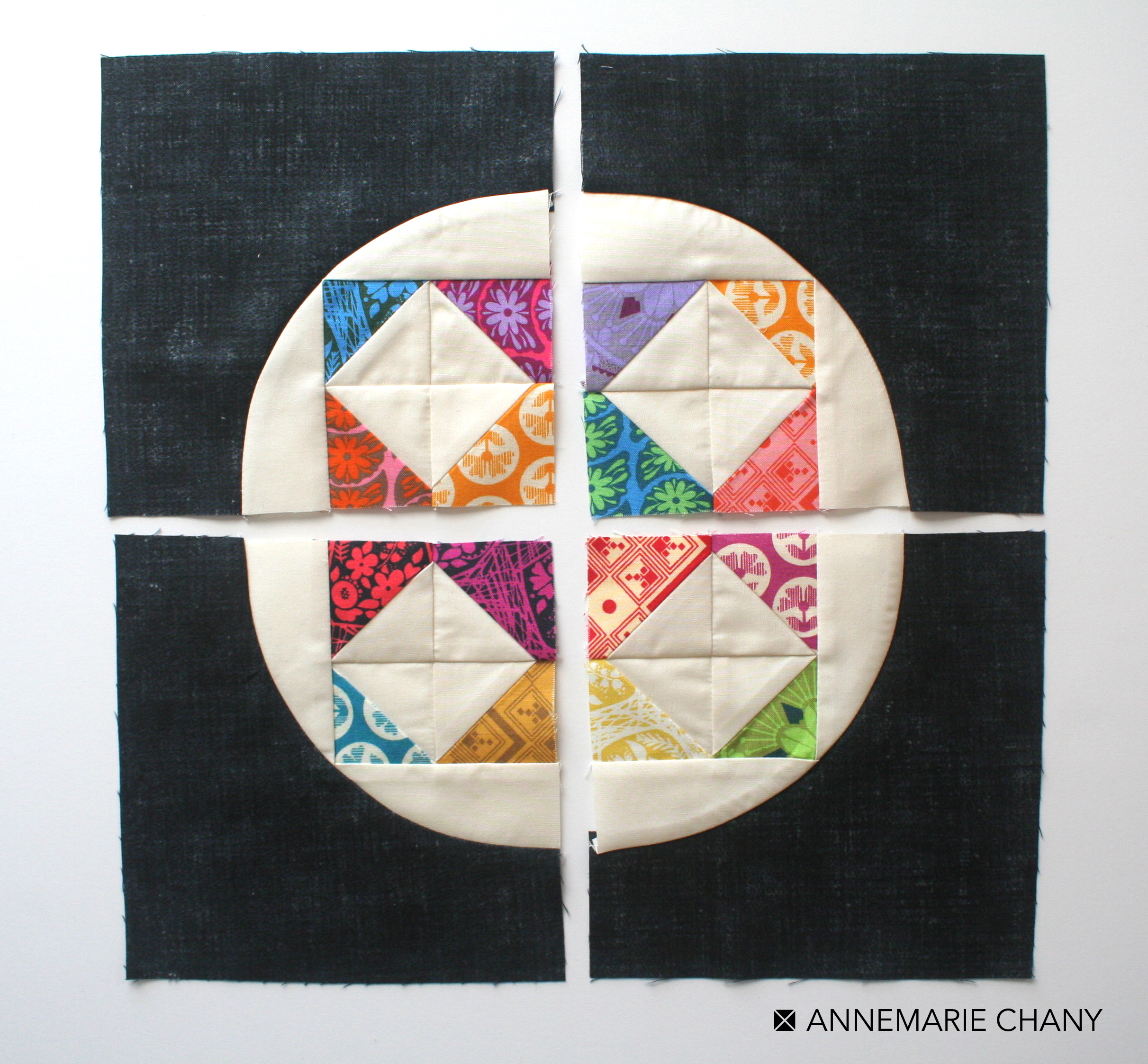 Hoop Quilts 4 Drunkard's Path Blocks