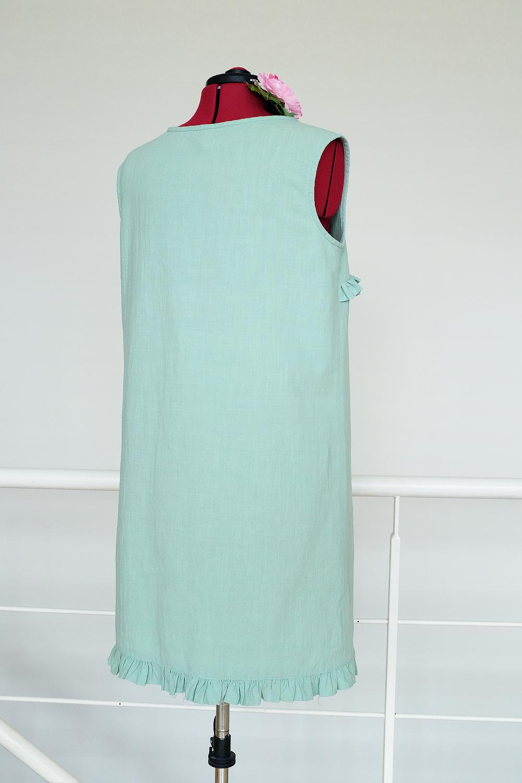 marchewkowa, blog, szycie, sewing, rękodzieło, handmade, moda, styl, vintage, retro, repro, 1950s, 1960s, Wrocław szyje, w starym stylu, mint green crushed cotton