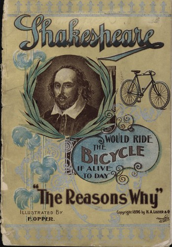 Shakespeare would ride the bicycle if alive today