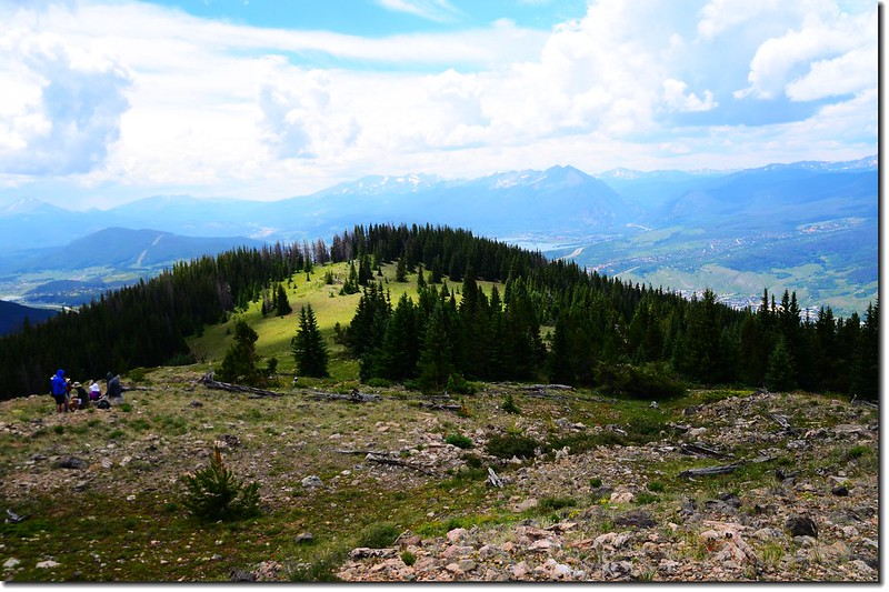 View to Southwest from just past Ptarmigan Peak Wilderness boundary 2