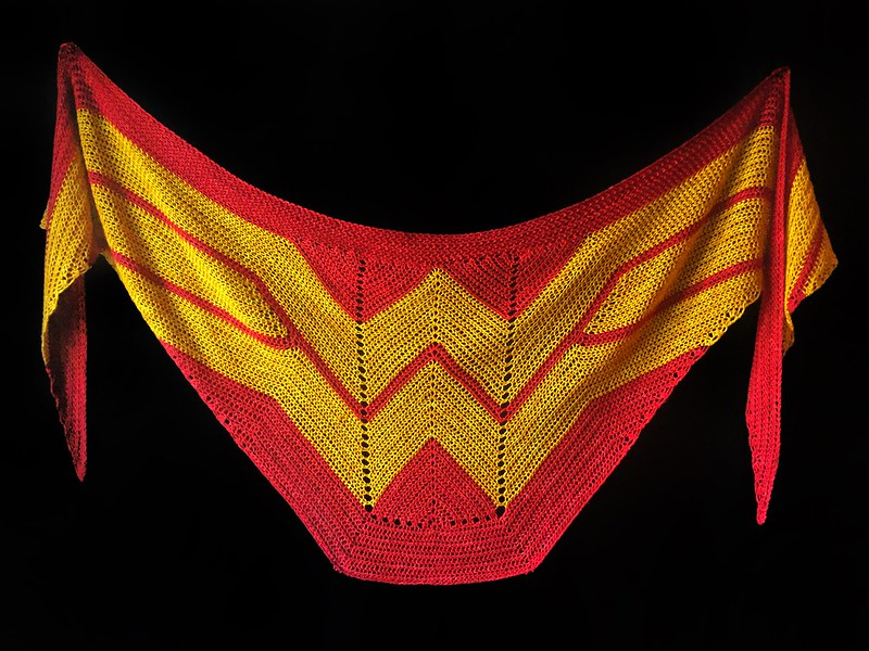 Wonder Woman Wrap - Crochet