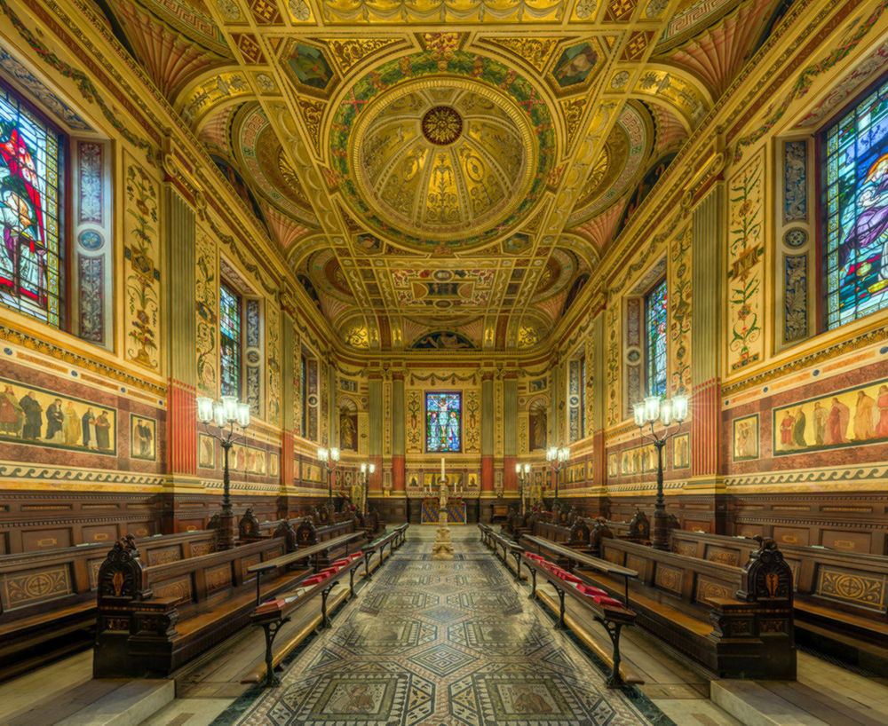The interior of the chapel of Worcester College, Oxford, England. Credit Diliff