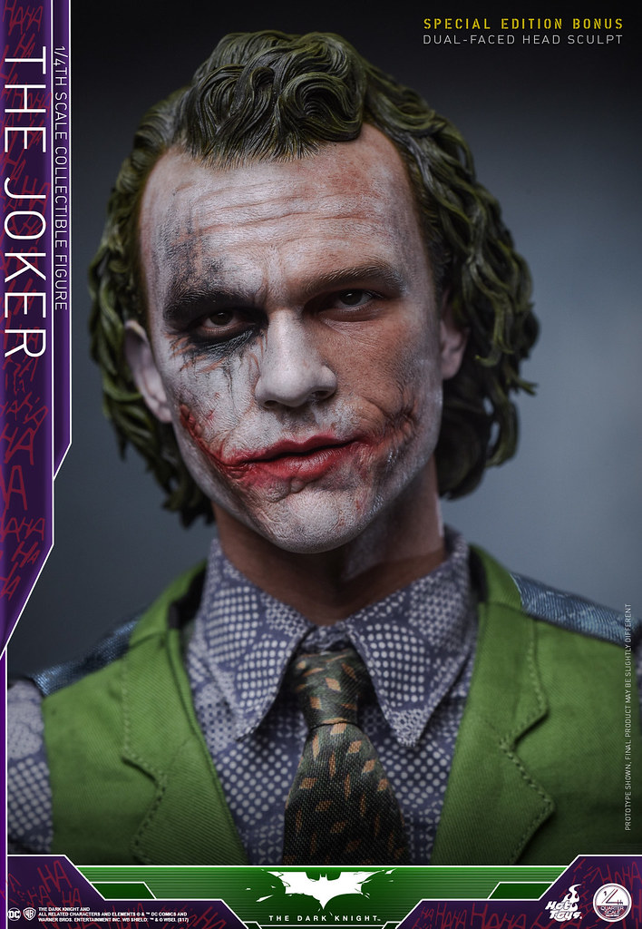 Hot Toys - QS010 - 蝙蝠俠:黑暗騎士【小丑】The Dark Knight The Joker 1/4 比例人偶作品