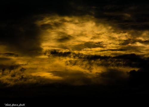 sunset sundown clouds sky nature