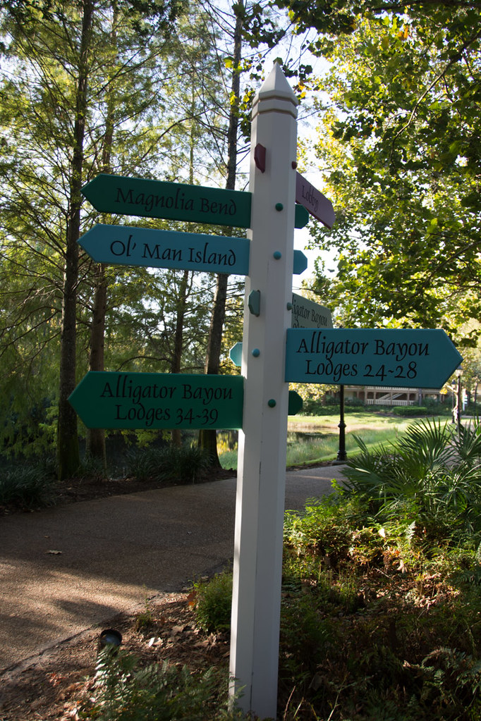 Alligator Bayou signs