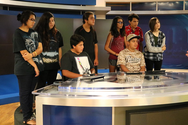 NATIVE YOUTH MEDIA TOUR - CBS 8 SAN DIEGO — at KFMB- TV Channel 8.