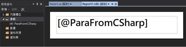 [RV] 從 C# 傳遞參數至 ReportViewer-5