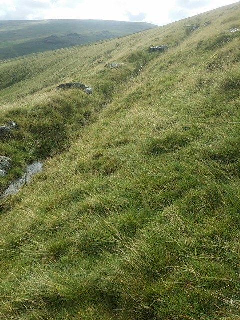 Disused leat on ascent of Corn Ridge?