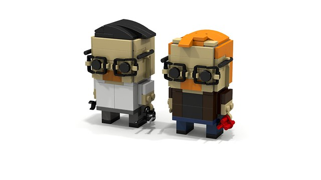 Brickheadz Mythbusters Adam and Jamie