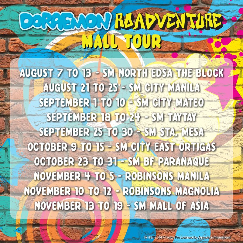 RoadVenture Mall Tour Schedule