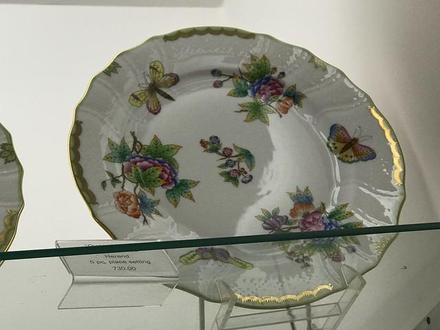 Herend dinner plate,  David M. Brian store
