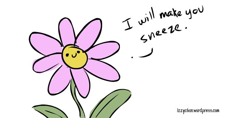 pink flower will make you sneeze