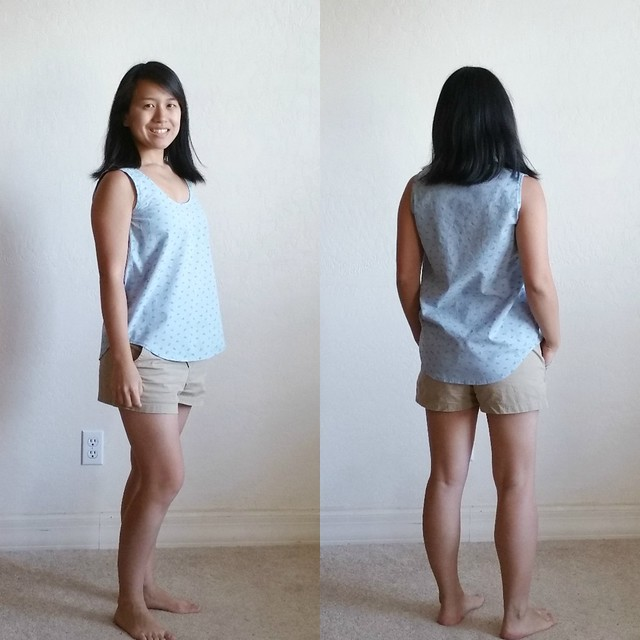 Wiksten Tank Review and Whale Print Chambray | shirley shirley bo birley Blog