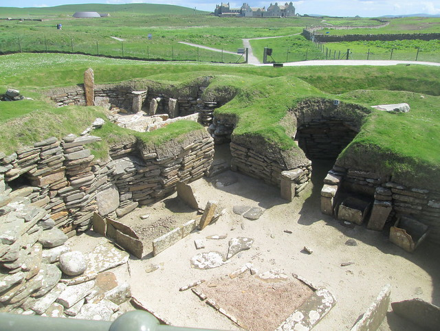 Neolithic House at Skara Brae,Orkney