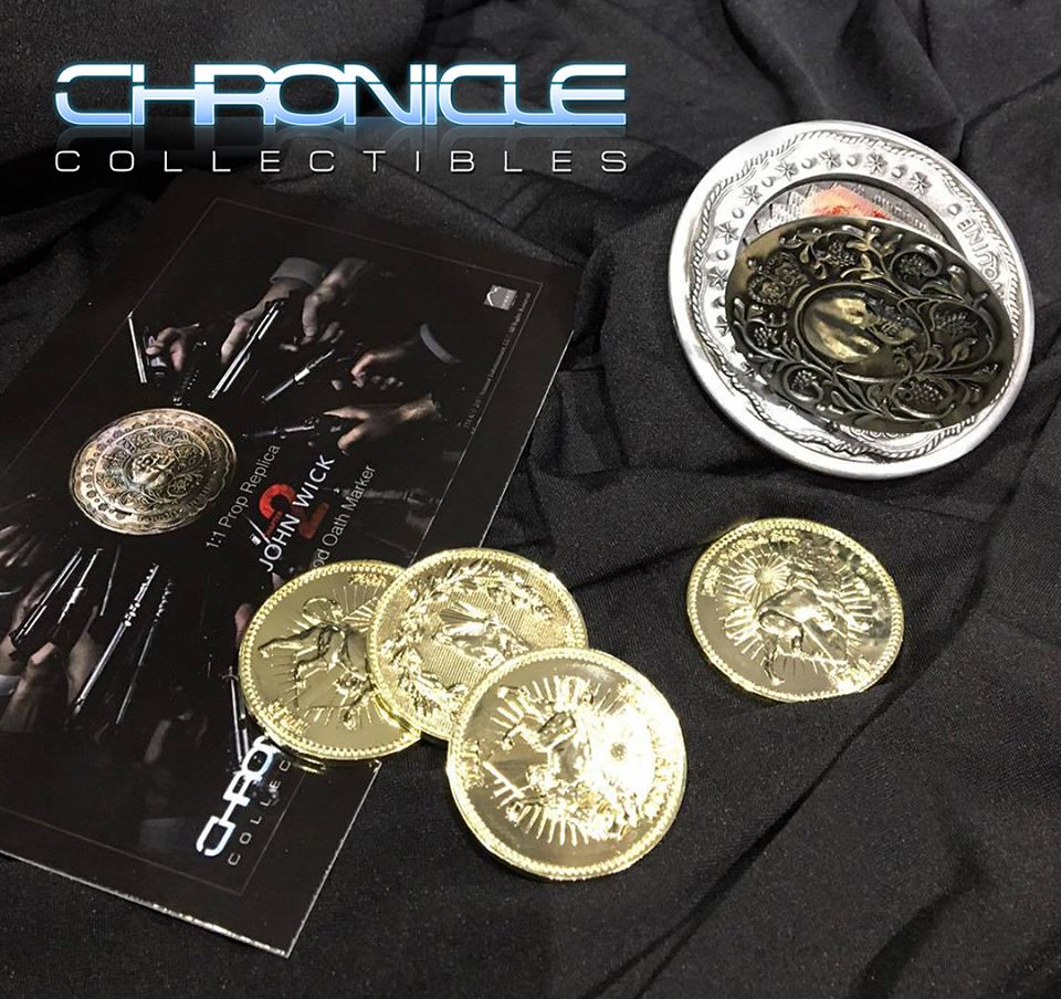 血債血還!!Chronicle Collectibles 捍衛任務2:殺神回歸【血誓印記】Blood Oath Marker 1:1 比例復刻道具