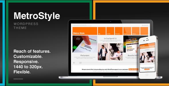 MetroStyle v1.5.2 – Responsive All Purpose WordPress Theme