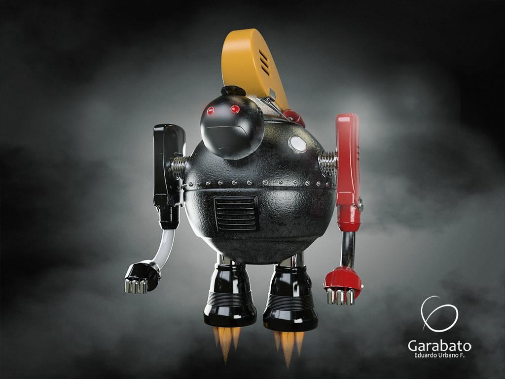 Mr Roboto | Modelado 3D conceptual  Software: 3Ds Max / Vray
