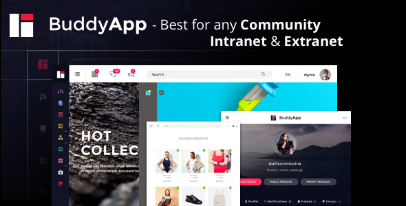 BuddyApp v1.5.1 – Mobile First Community WordPress theme