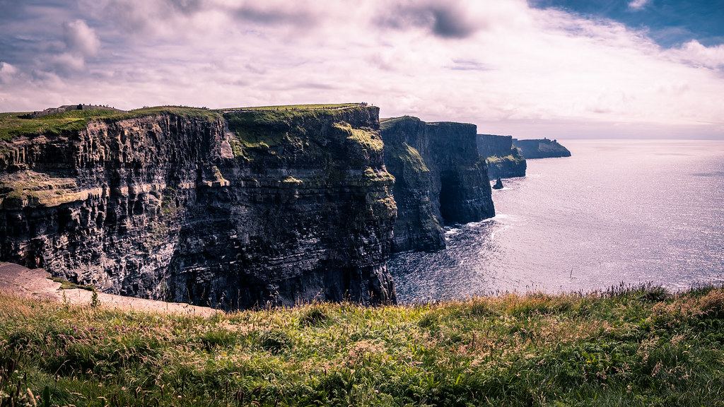 Cliffs of Moher panorama, Clare, Ireland picture
