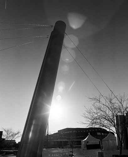 scottsdale waterfront bridge 120film bw film mamiya rb67 filter sooc ilford sunrise