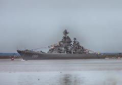 Russian Battlecruiser Pyotr Velikiy in Kronshtadt