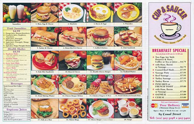 Cup & Saucer menu