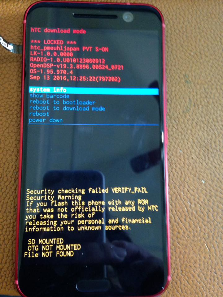 Secure Check Fail Bootloader
