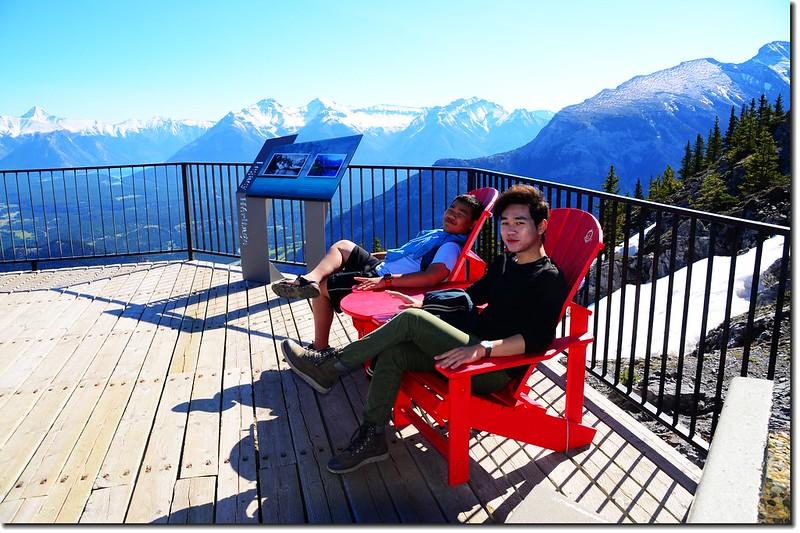Red Chairs at Sanson Peak, Banff Gondola