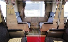 Open section sleeping car interior at the Kyoto Railway Museum 8522